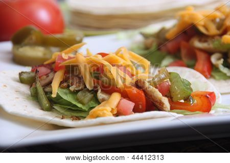 chicken taco soft shell