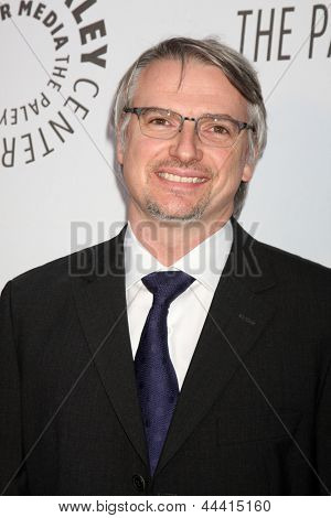 LOS ANGELES - OCT 22:  Glenn Mazzara arrives at  the Paley Center for Media Annual Los Angeles Benefit at The Lot on October 22, 2012 in Los Angeles, CA