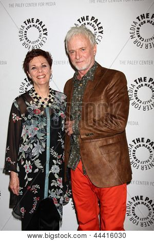 LOS ANGELES - APR 12:  Jane Elliot, Tony Geary arrives at the General Hospital Celebrates 50 Years - Paley at the Paley Center For Media on April 12, 2013 in Beverly Hills, CA