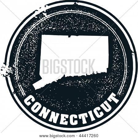 Vintage Connecticut Estados Unidos estado sello