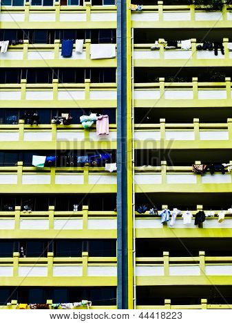 Singapore Public Housing Apartment Block