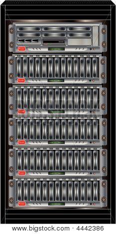 Gabinete de servidores de computadora