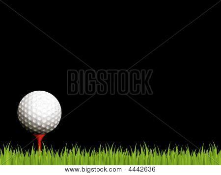 Illuminated Golf Scene On Black Background