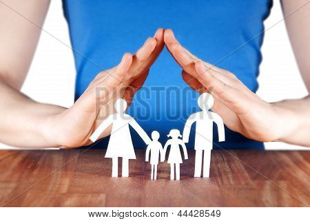 Family With House Of Hands