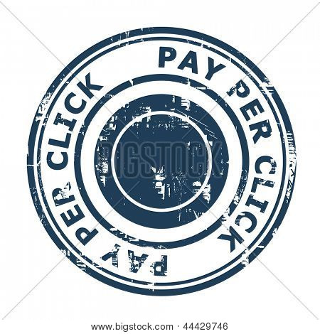 Pay Per Click SEO concept stamp isolated on a white background.