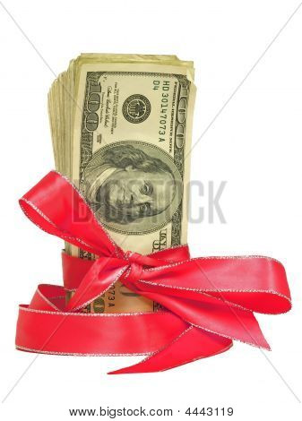 Money Tied In Red Ribbons