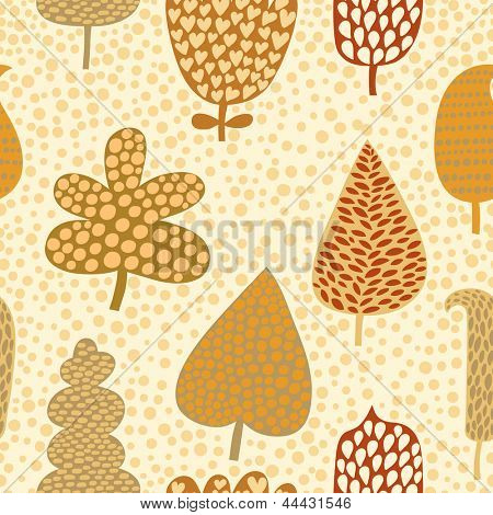 Seamless pattern with autumn leafs, abstract leaf texture, endless background.Seamless pattern can be used for wallpaper, pattern fills, web page background, surface textures.