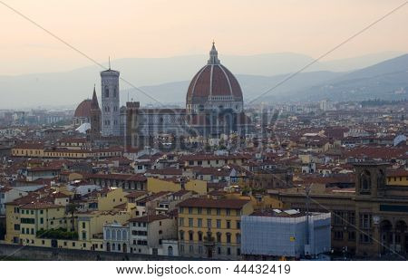 Renaissance Cathedral Santa Maria Del Fiore In Florence, Italy