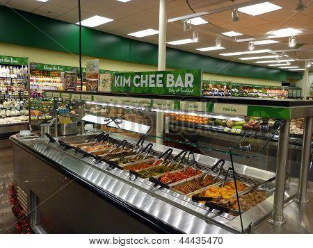 Kim Chee Food Bar Inside Supermarket
