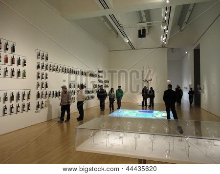 People View Wine Exhibit At The Sfmoma Called - How Wine Became Modern