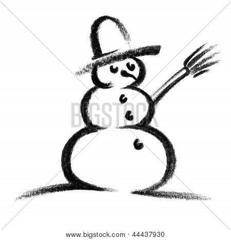 Icono del muñeco de nieve