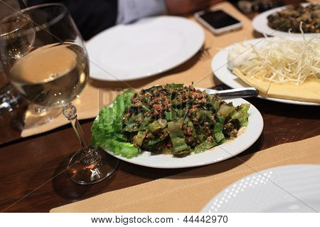 Plate Of Tabouleh Salad