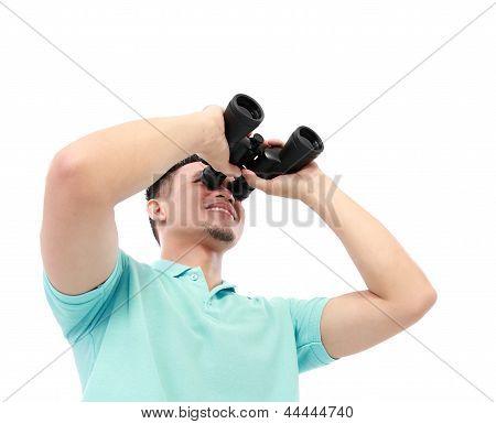 Man Using Binocular