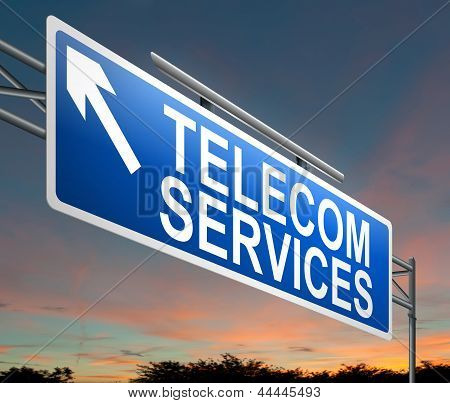 Concepto de servicio de telecomunicaciones.