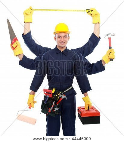 Industrial Worker Ready To Work