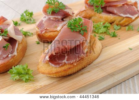 French Toast With Ham-cured