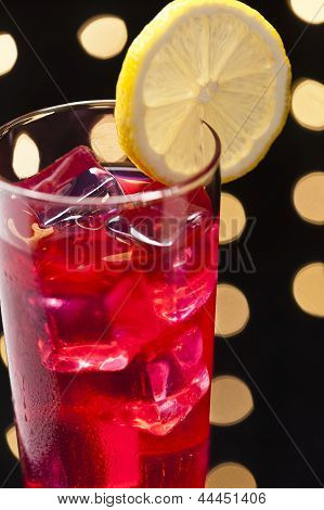Campari Cocktail In Disco Setting