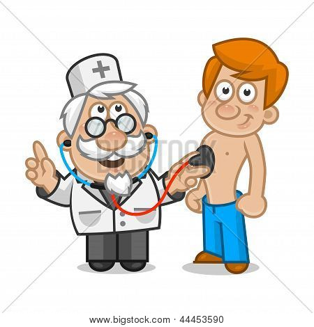 Doctor listens the patient