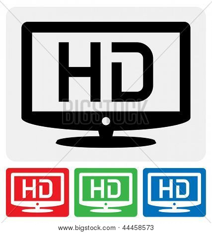 high definition television symbol. HDTV icon
