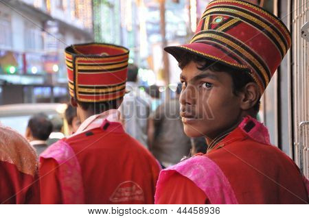 Boy In Parade Uniform  Wait For The Show