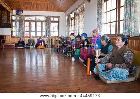 Old People Pray And Meditate