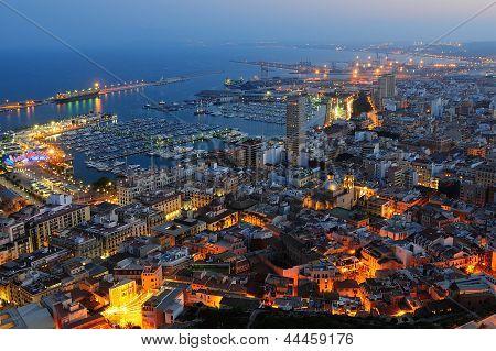 Spain Alicante city night