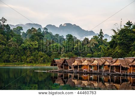 Bamboo Huts Floating