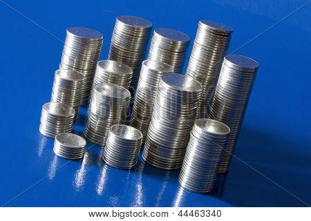 Foto des alten Münze Haufen