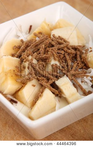 banana and fiber yogourt