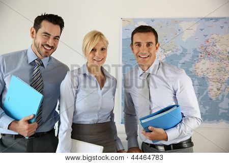 Successful business team portrait