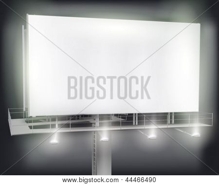 Large billboard. Vector illustration.