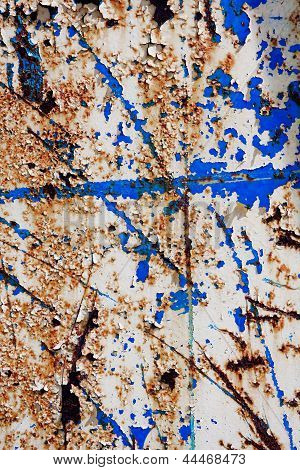 Metal Corroded  Texture With Cracked Paint