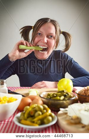 Eating Leek