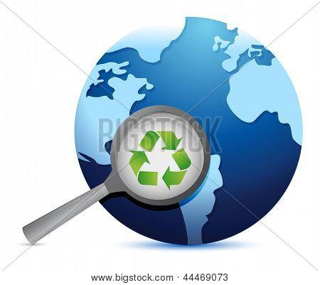 Earth Recycle Earth Lifeline Illustration Design