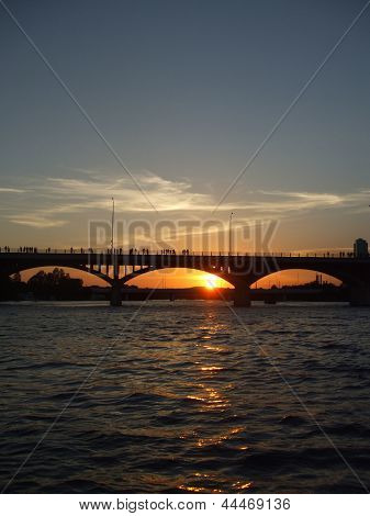 Peaceful Bridge at Sunset