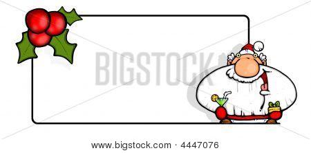 Greeting Card - Santa  Celebrates Too