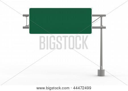Green Blank Freeway Sign