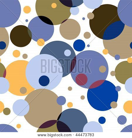 Colorful Circles on white abstract seamless pattern, vector