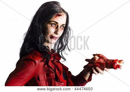 Zombie Shaking Severed Hand