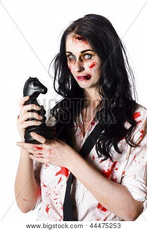 Evil Dead Business Zombie With Chess Playing Piece