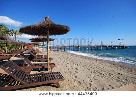 Daitona beach, Marbella, Andalusia, Spain.