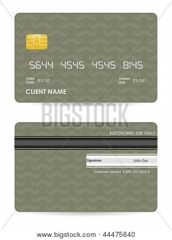 Vector Illustration Of Detailed Credit Card