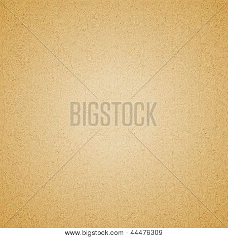 Curly vintage beige seamless pattern