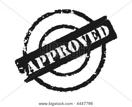 Stamp 'approved'
