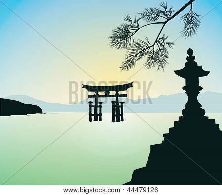 The Floating Otorii Gate At Miyajima
