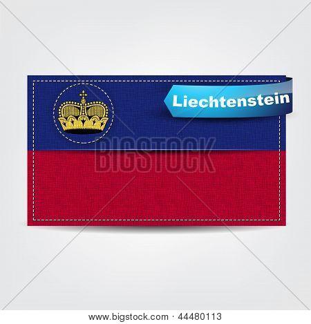 Fabric Texture Of The Flag Of Liechtenstein