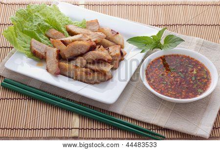 Roast pork Thai style