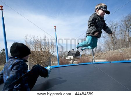 Fun On Trampoline