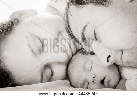 Baby With Mom And Dad