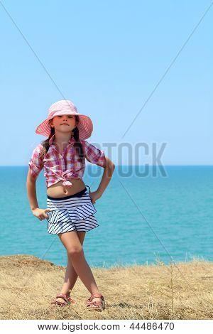 Girl In A Hat Full Length